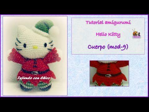 YouTube | Hello kitty crochet videos | Pinterest | Elfo y Ganchillo