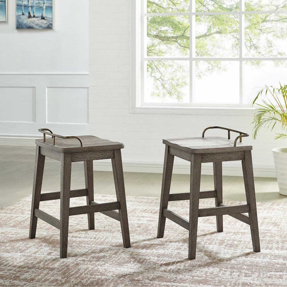Farmhouse Weathered Gray 24 Inch Counter Stool in 2020
