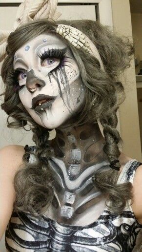 skelett kost m selber machen makeup halloween och sk nhet. Black Bedroom Furniture Sets. Home Design Ideas