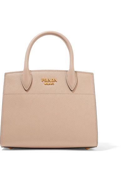 fbb1cf0686a6 PRADA Bibliothèque Small Textured-Leather Tote. #prada #bags #shoulder bags  #hand bags #leather #tote #