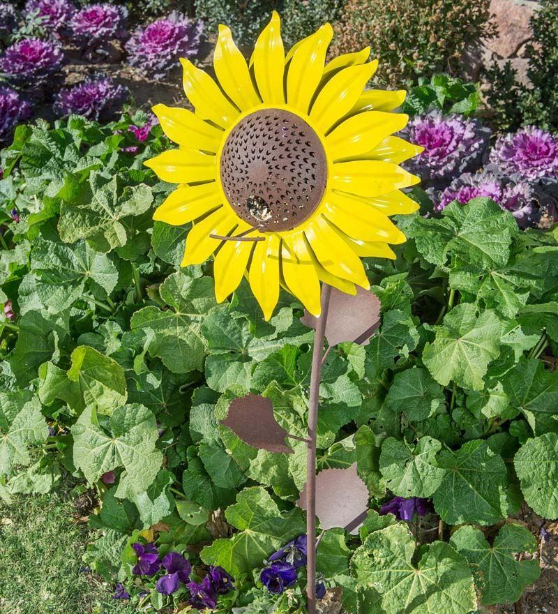 Sunflower Bird Feeder And Garden Stake | Bird U0026 Squirrel Feeders