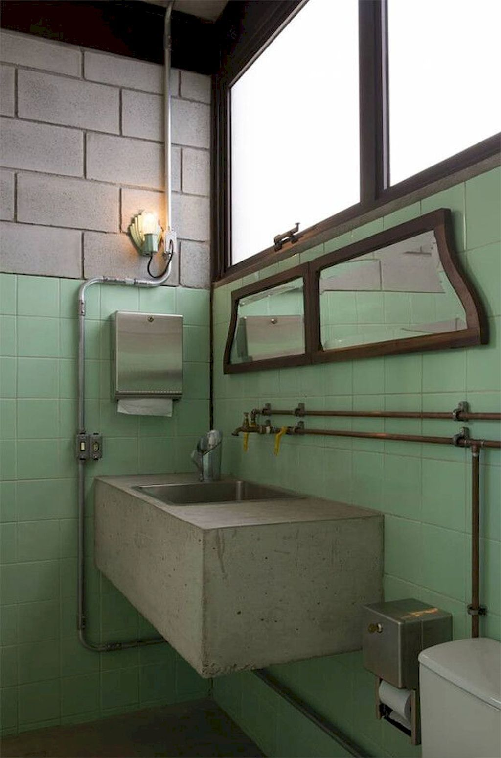 Industrial Decorating Ideas And Tips In 2020 Vintage Industrial Bathroom Industrial Bathroom Decor Industrial Bathroom Design