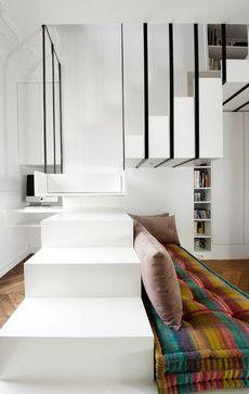 Escalier suspendu - contemporary - Staircase - Other Metro - Gaëlle ...