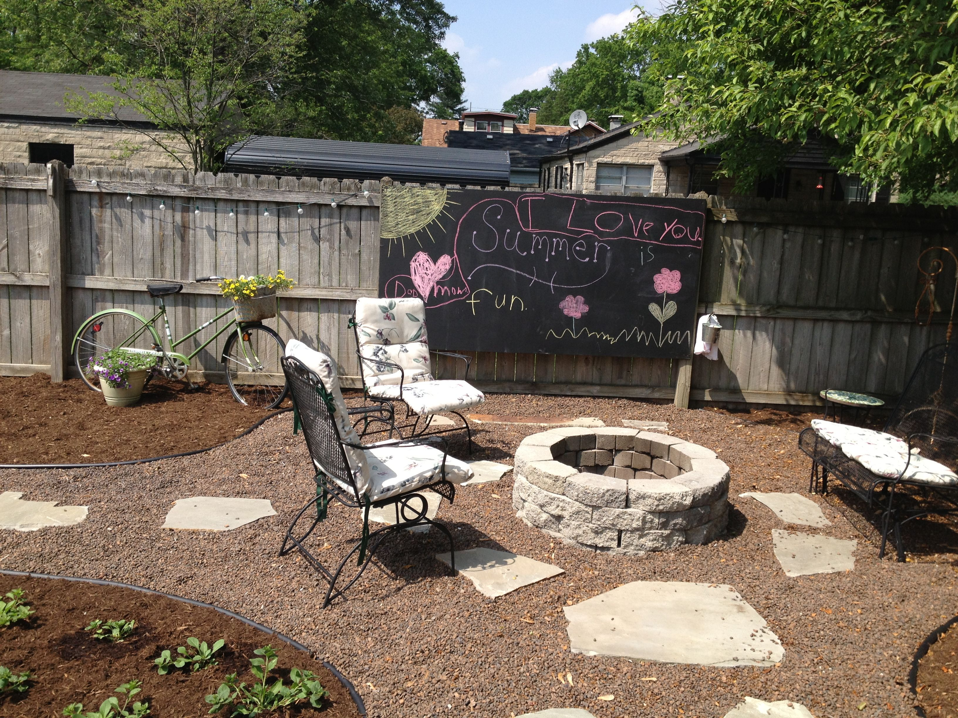 Landscaping- do it yourself fire pit, walkway, and ...