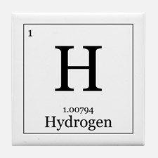 Elements 1 Hydrogen Tile Coaster For Hydrogen Element