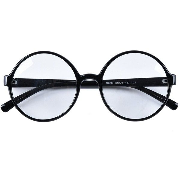 1570770945 Agstum Retro Round Glasses Frame Clear Lens Fashion Circle Eyeglasses...  (£10) ❤ liked on Polyvore featuring accessories
