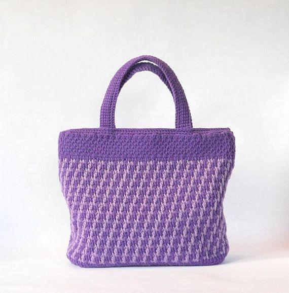 Modèle Crochet Tunisien Violette Et Lavande Pour Un Par