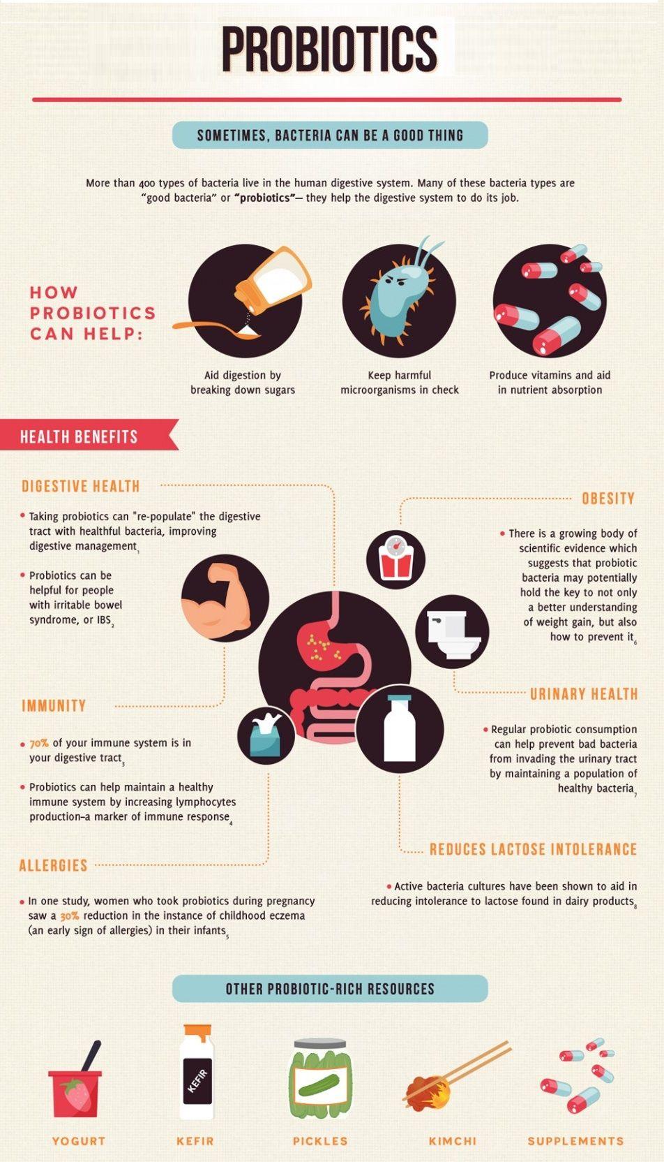 Health Benefits Of Pro Biotics Probiotics Infographic Health Probiotic Benefits
