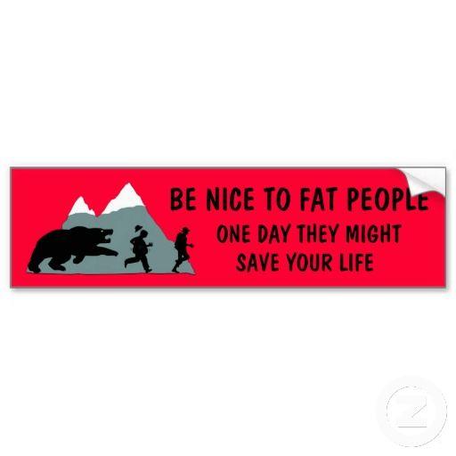 Funny bumper stickers funny fat joke bumper sticker from zazzle com