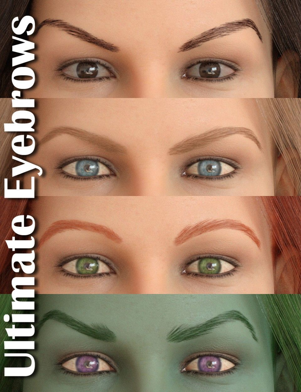 Ultimate Eyebrows G8f Daz3d Hair Tools Pinterest Eyebrows