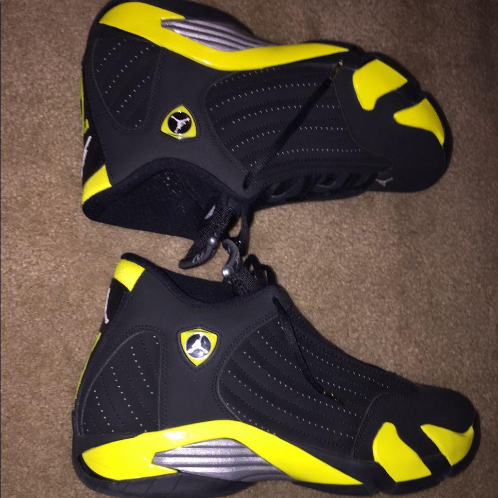 Jordan Shoes Air Jordan Thunder 14s Color Black Yellow Size