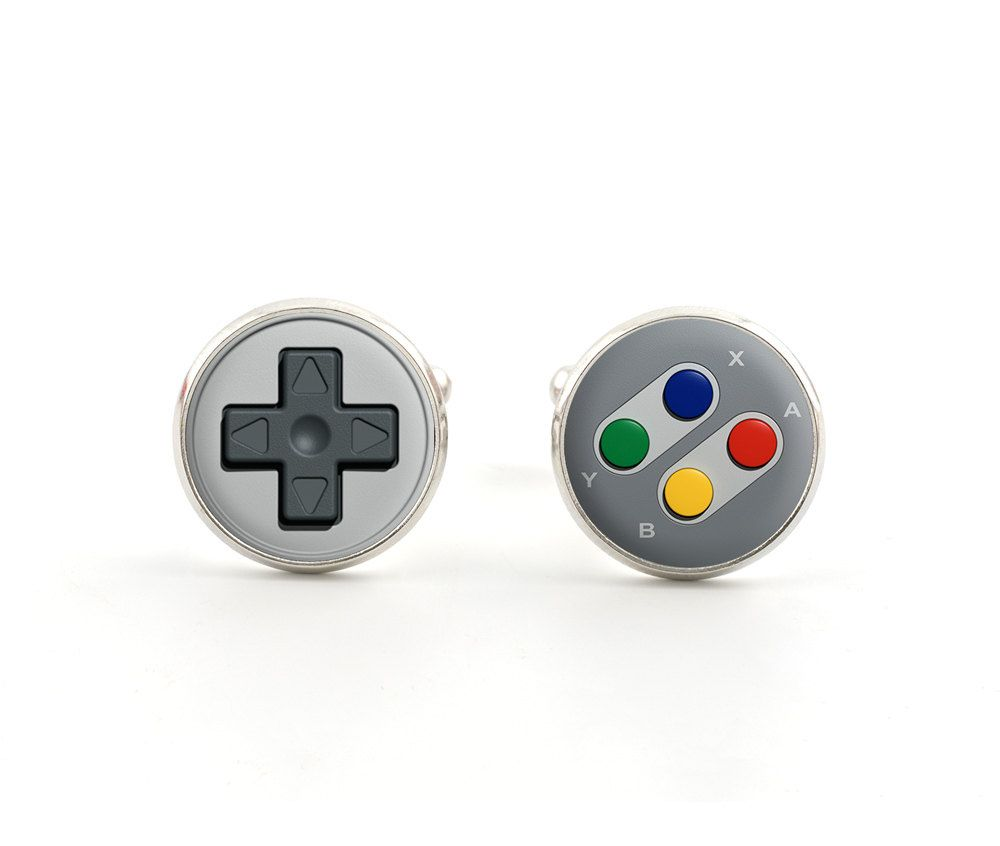 Gaming Jewelry Game Controller Tie Clip Playstation Cufflinks Groomsman Gifts