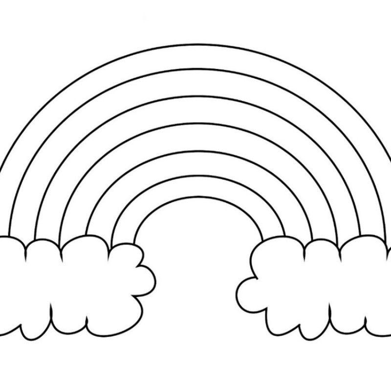 Free Printable Rainbow Templates Large Medium Small Patterns