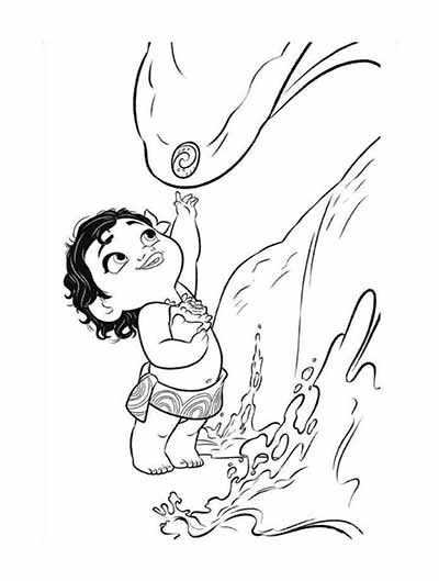 59 Moana Coloring Pages Updated November 2018 ก ฉาก Moana
