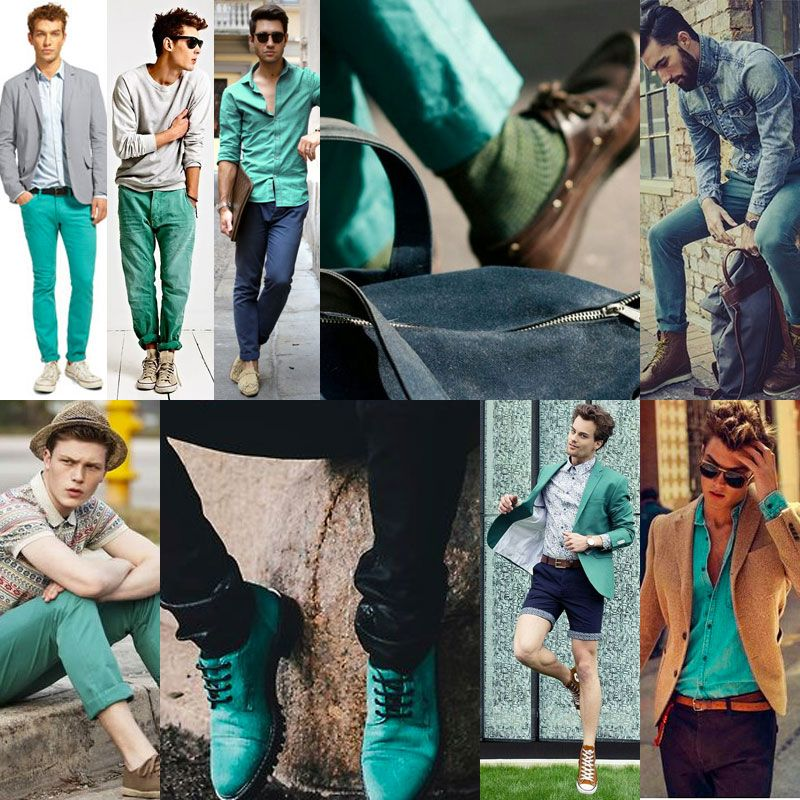 SS16 Men's Fashion Aqua Color Trend