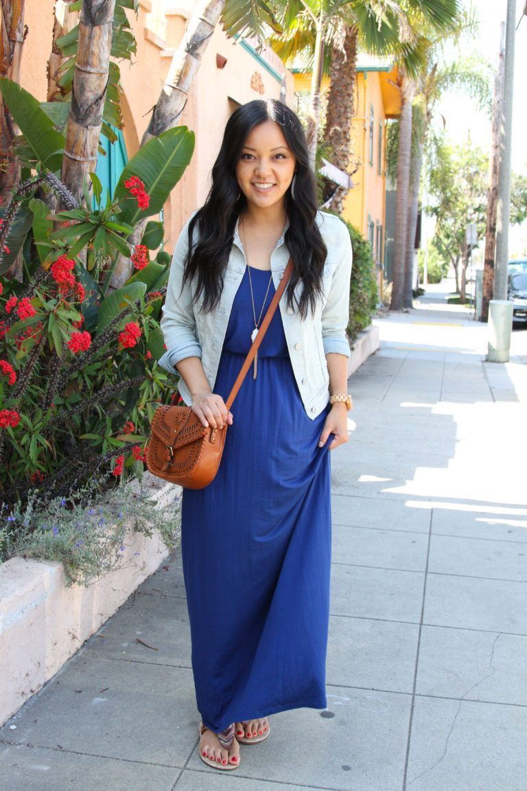 Ways To Wear A Blue Maxi Dress In The Summer Casual Maxi Dress Outfit Maxi Dress Maxi Dress Blue