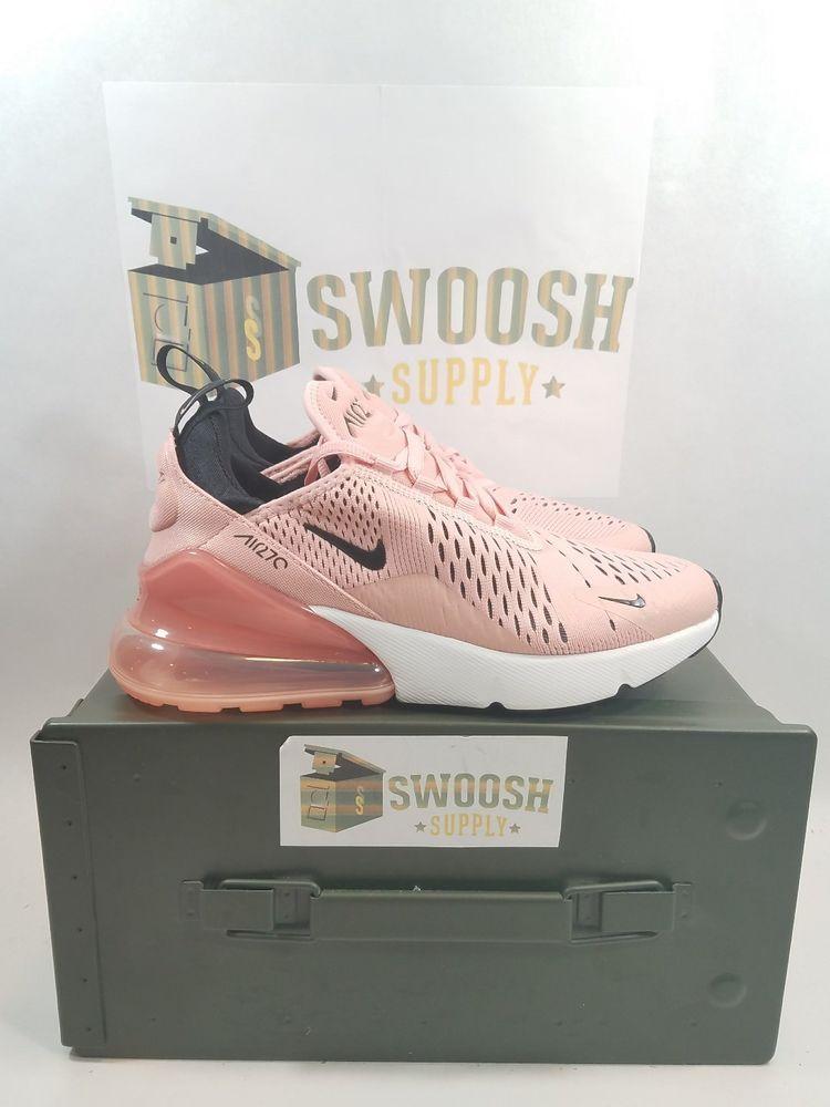 Nib New Nike Air Max 270 Coral Ah6789 Stardust Negro Rosa Zapatos Ah6789 Coral 600 a95f36