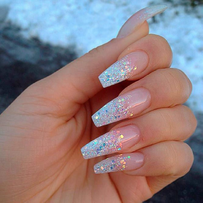 33 Ideas Of Glitter Ombre Nails Natural Glitter Ombre Nails Picture 2 Check Out Our Amazing Collecti Nail Designs Glitter Nail Designs Cute Acrylic Nails