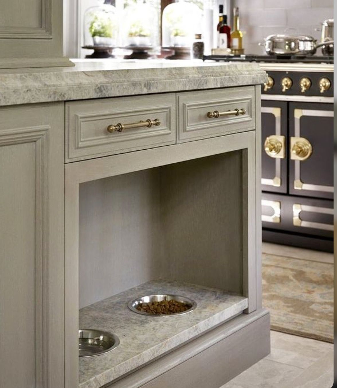 Like The Dog Feeding Station Integrated Into The Island Home Kitchens Kitchen Remodel Kitchen Design