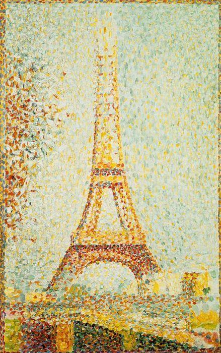 Seurat Eiffel Tower