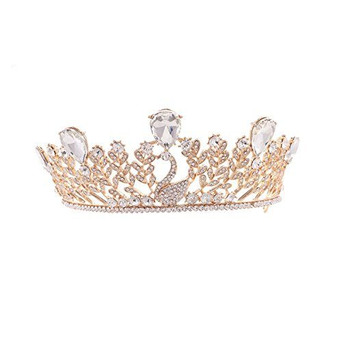 ULTNICE Wedding Tiara Bridal Princess Crown Crystal Rhinestones Headband *** You can get additional details at the image link.(This is an Amazon affiliate link)