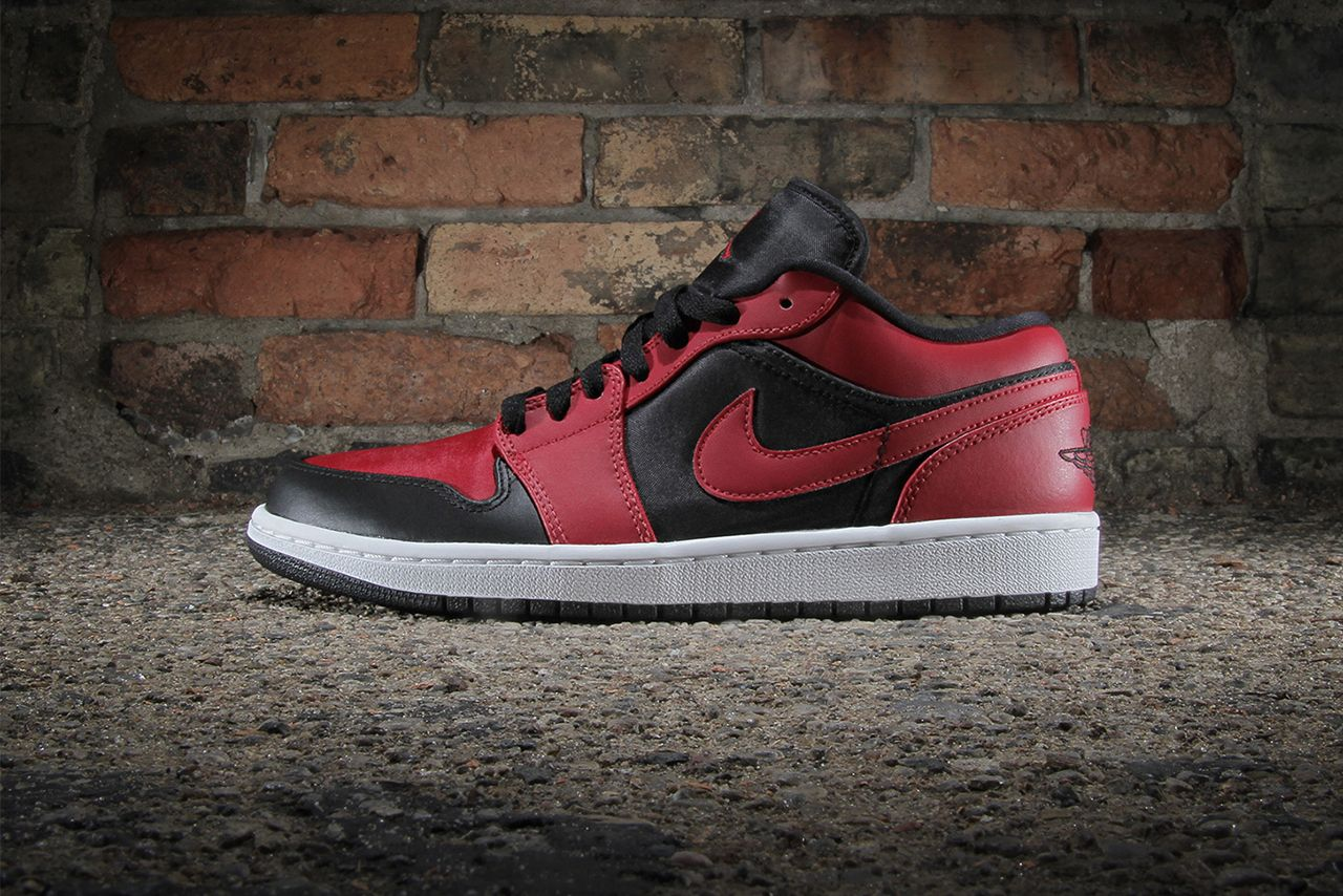 Image of Air Jordan 1 Low Black Gym Red-White 0bf61bb3f2