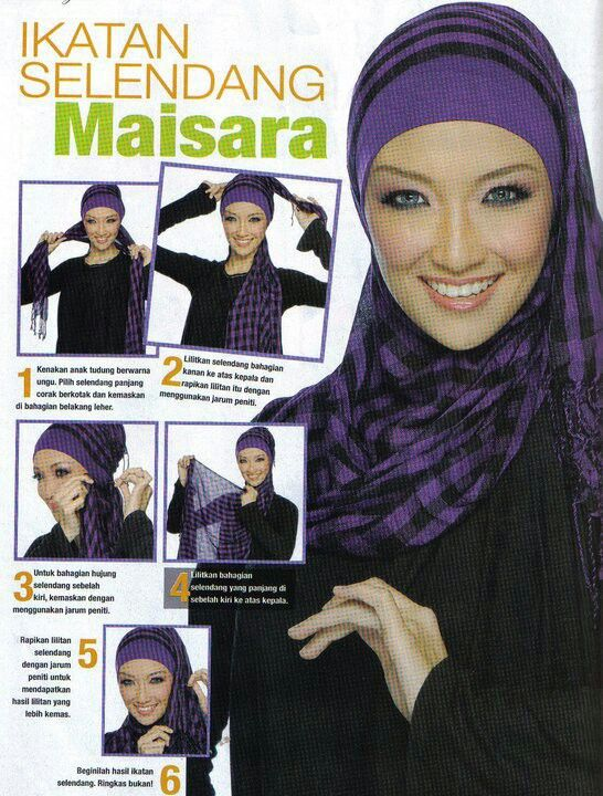 Hijab Tutorial Warna Kerudung Ungu