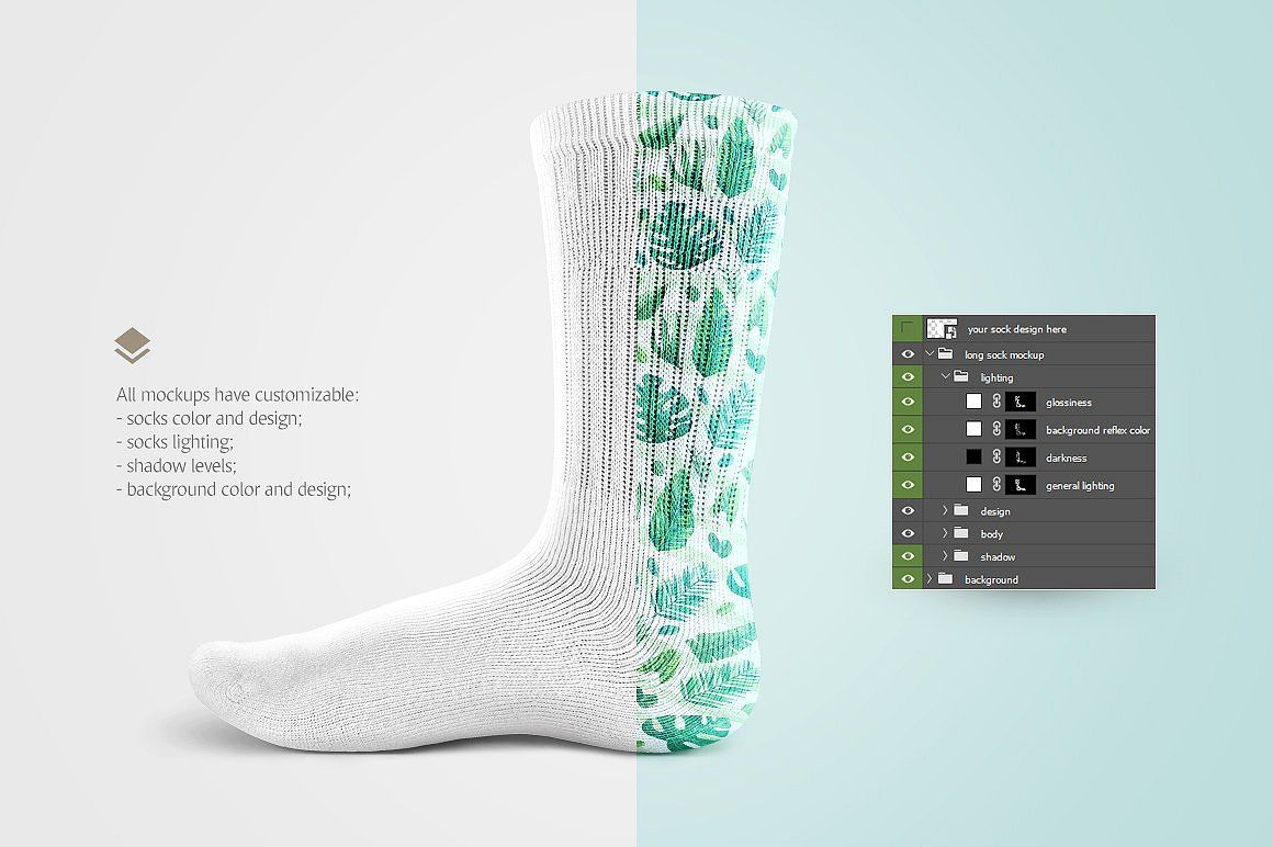 Download Socks Mockup Clothing Mockup Socks Mockup