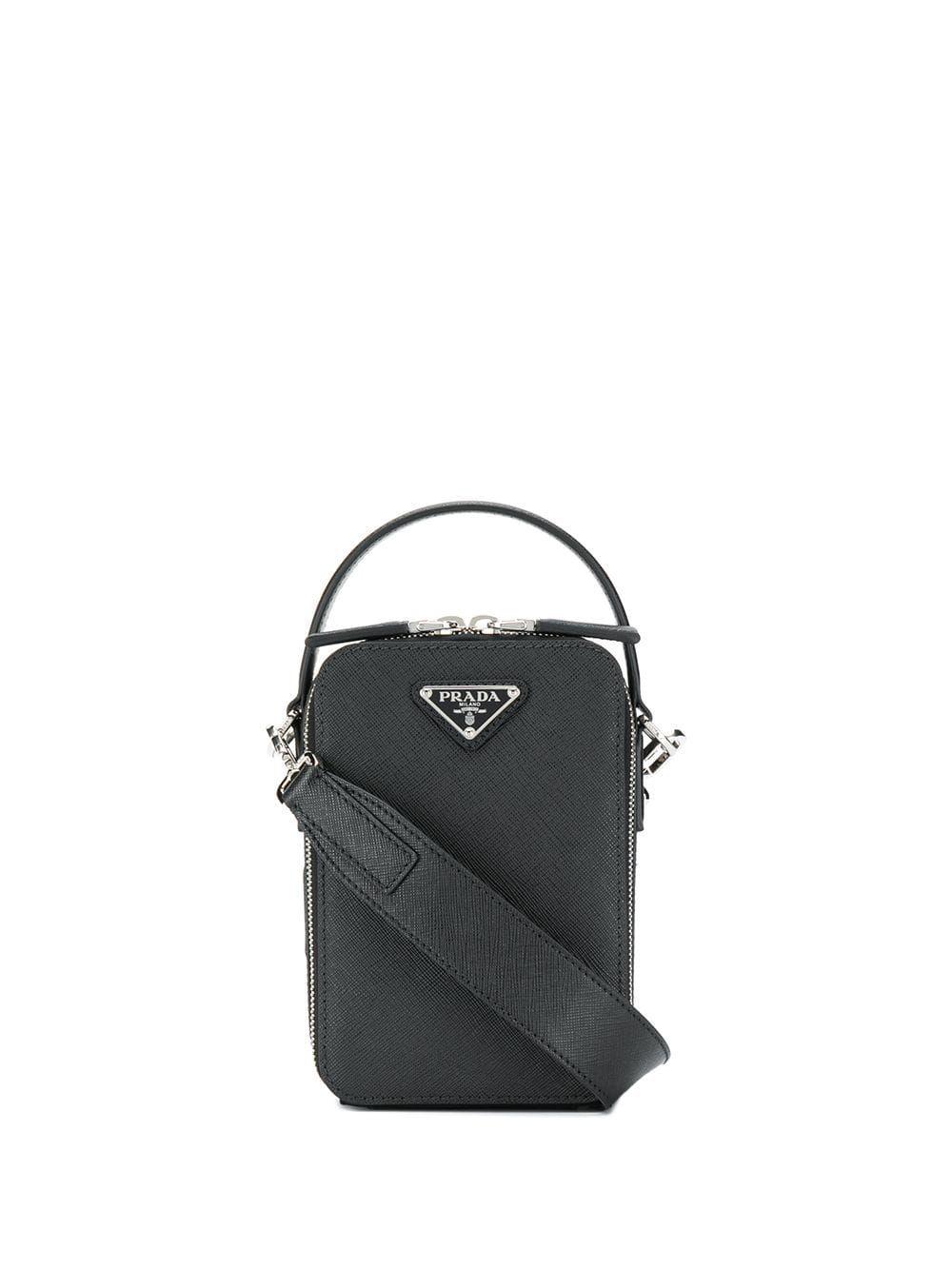 4351b46b580098 PRADA PRADA LOGO PLAQUE CROSSBODY BAG - SCHWARZ. #prada #bags #shoulder  bags #hand bags #leather #crossbody