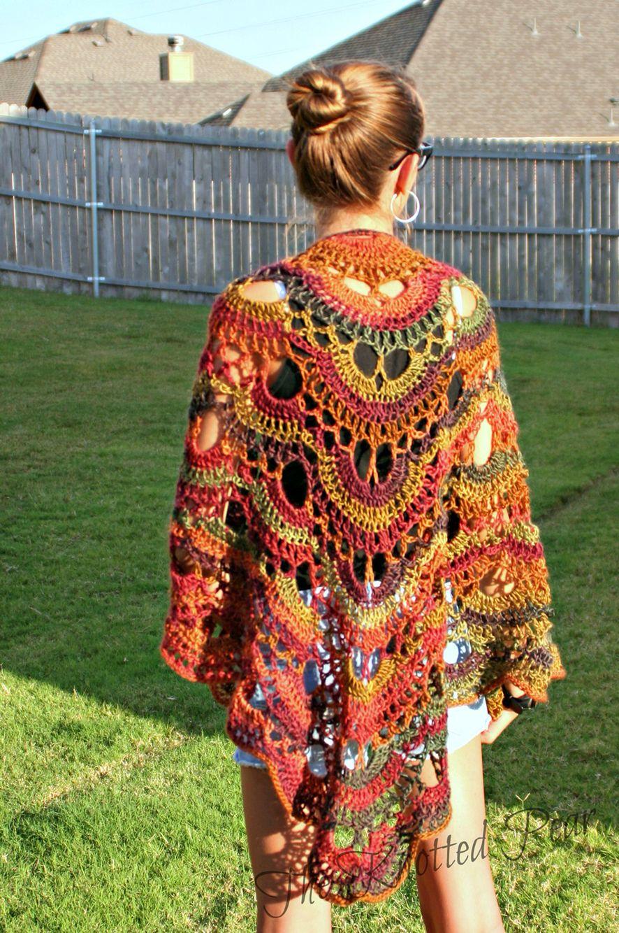 Crochet Virus Shawl Using Red Heart Boutique Yarn Virusshawl My Trippy Hippy Afghan Pattern Kingdom