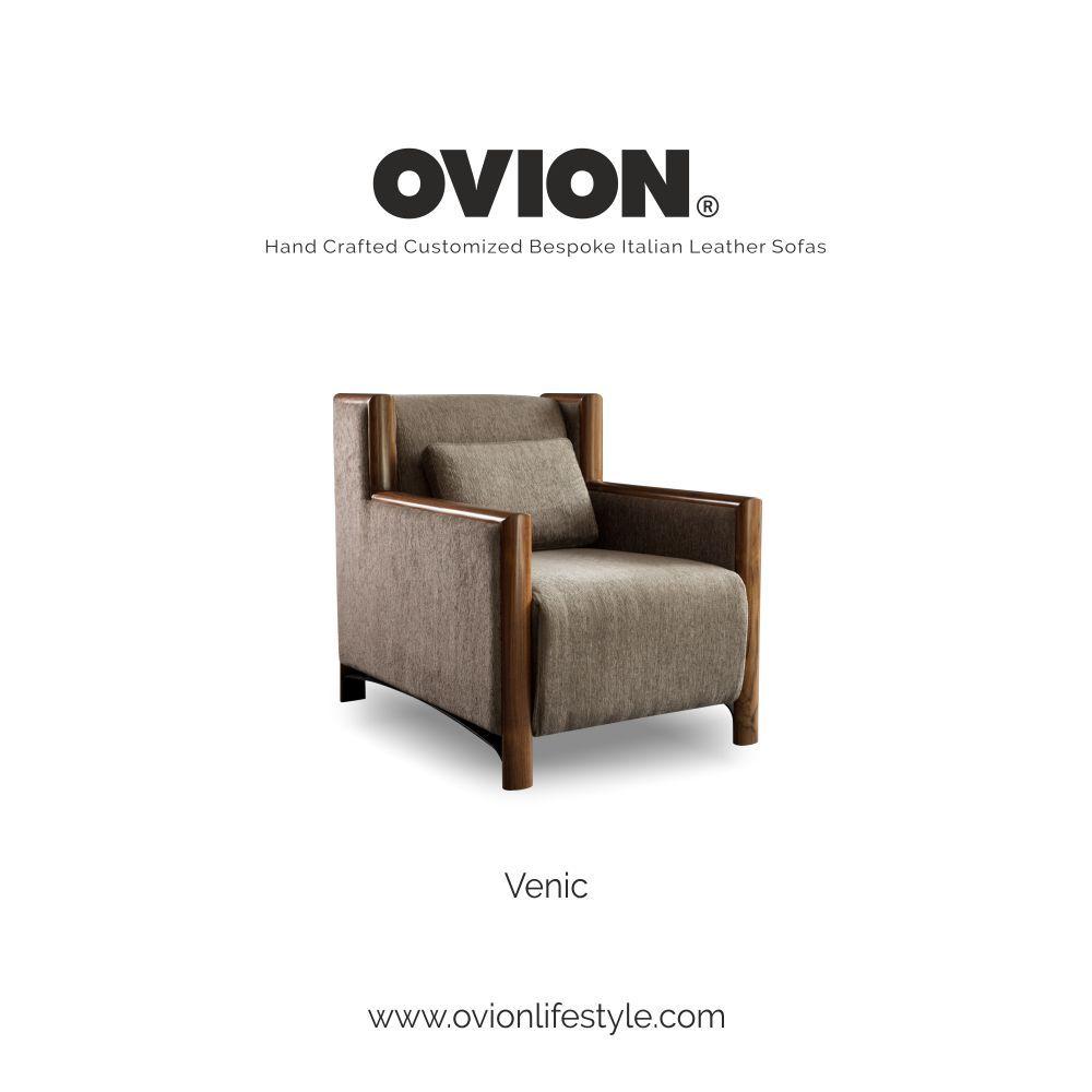 Think Sofas Think Ovion Luxury Italian Fabric Single Seater Sofa Leather Sofa Furniture Single Seater Sofa Italian Leather Sofa