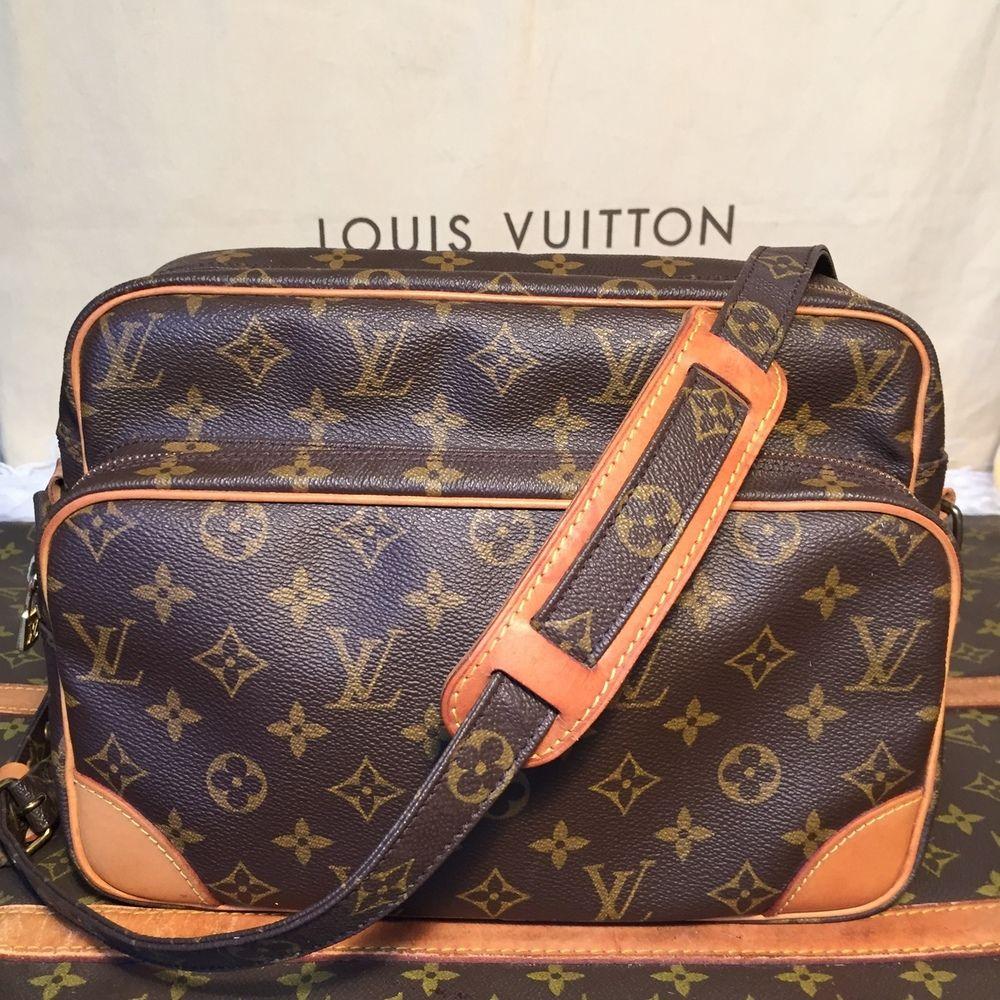 Vintage Authentic Louis Vuitton Nile Messenger Bag Gm Th0921 The Luxe Boutiqueus Louis Vuitton Cross Shoulder Bags Lv Bag Charm