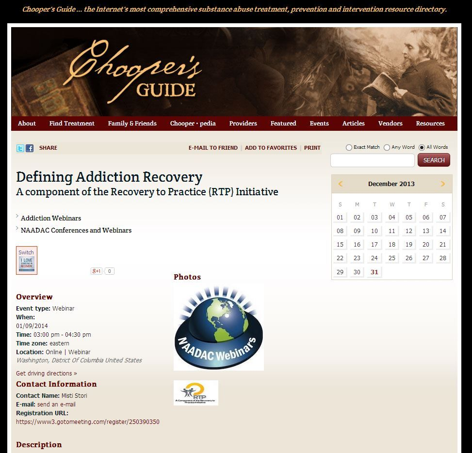 Defining Addiction Recovery  A component of the Recovery to Practice (RTP) Initiative; Pinned by the You Are Linked to Resources for Families of People Seeking Recovery from Substance Abuse cell phone / tablet app, on December 31, 2013;      Android - https://play.google.com/store/apps/details?id=com.thousandcodes.urlinkedlite;                    iPhone - https://itunes.apple.com/us/app/you-are-linked-to-resources/id743245884?mt=8