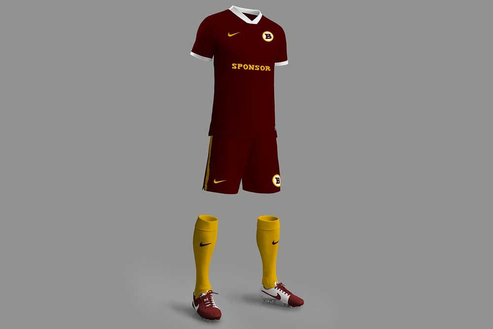 Download So If You Re A Designer Working With A Football Kit Perhaps You Will Find This Mockup Like A Superhero Here S A Free Downlo Football Kits Mockup Soccer Kits