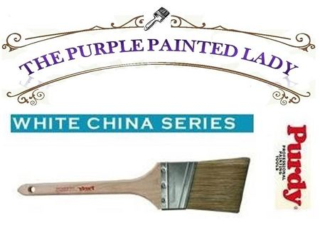 Purdy White 2 Inch Adjutant Angle Natural Bristle Brush Natural Bristle Brush Purple Painted Lady How To Tie Ribbon