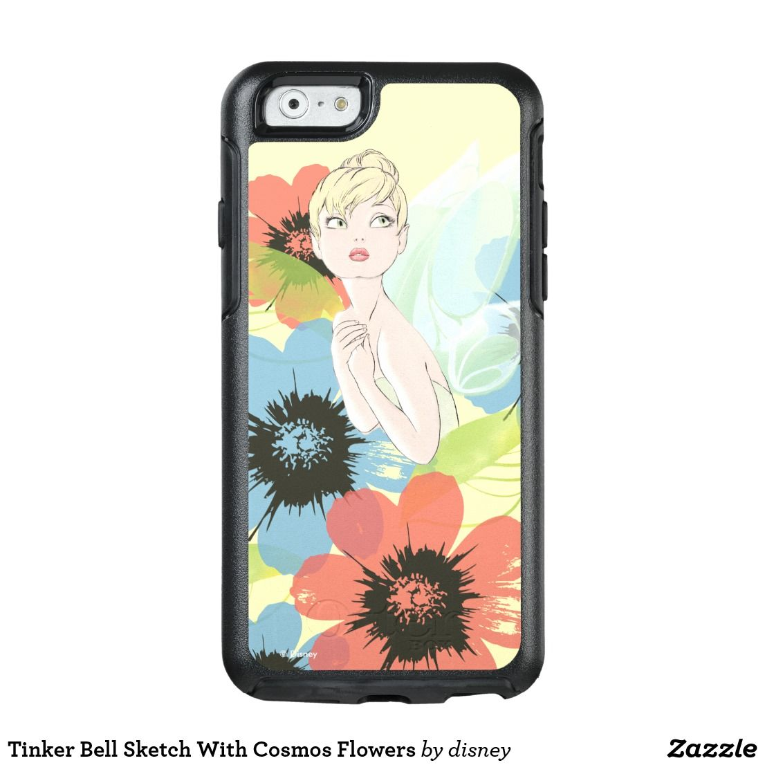 Tinker Bell Sketch With Cosmos Flowers OtterBox IPhone
