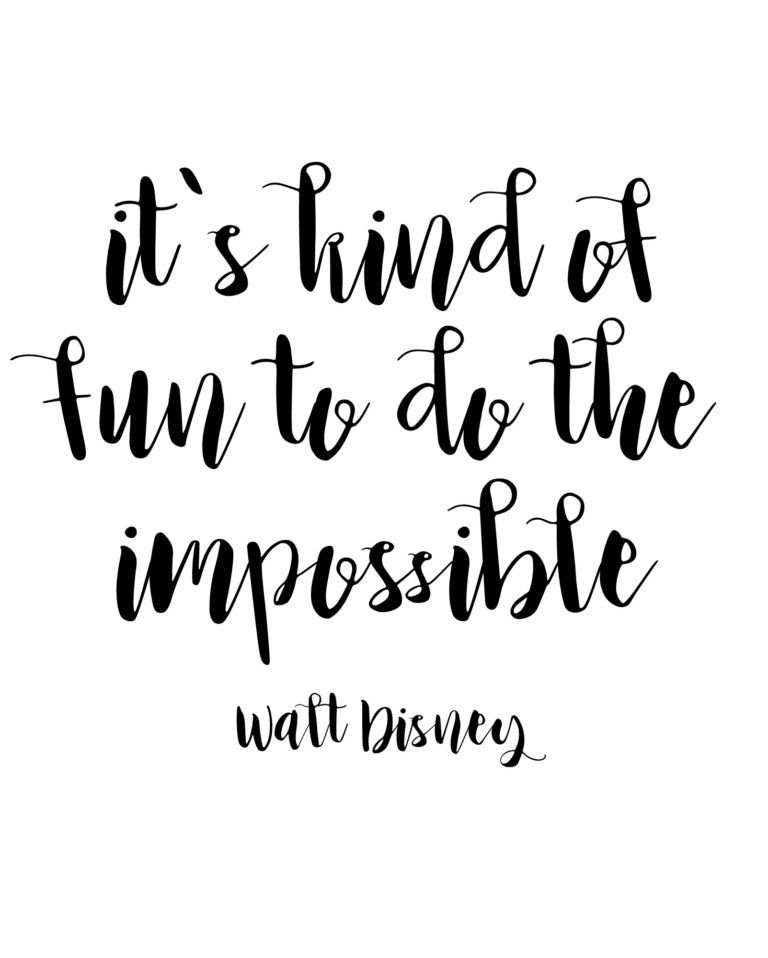 Inspirational Walt Disney Quotes: Free Printable Walt Disney Quotes
