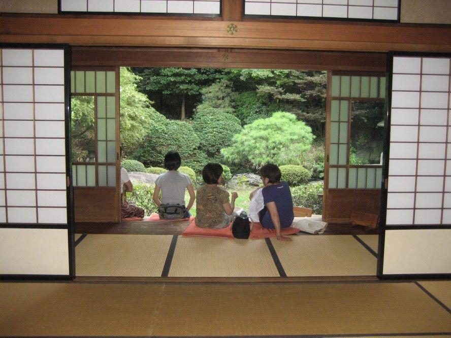 natural peaceful ambience japanese terrace japanese sliding doors
