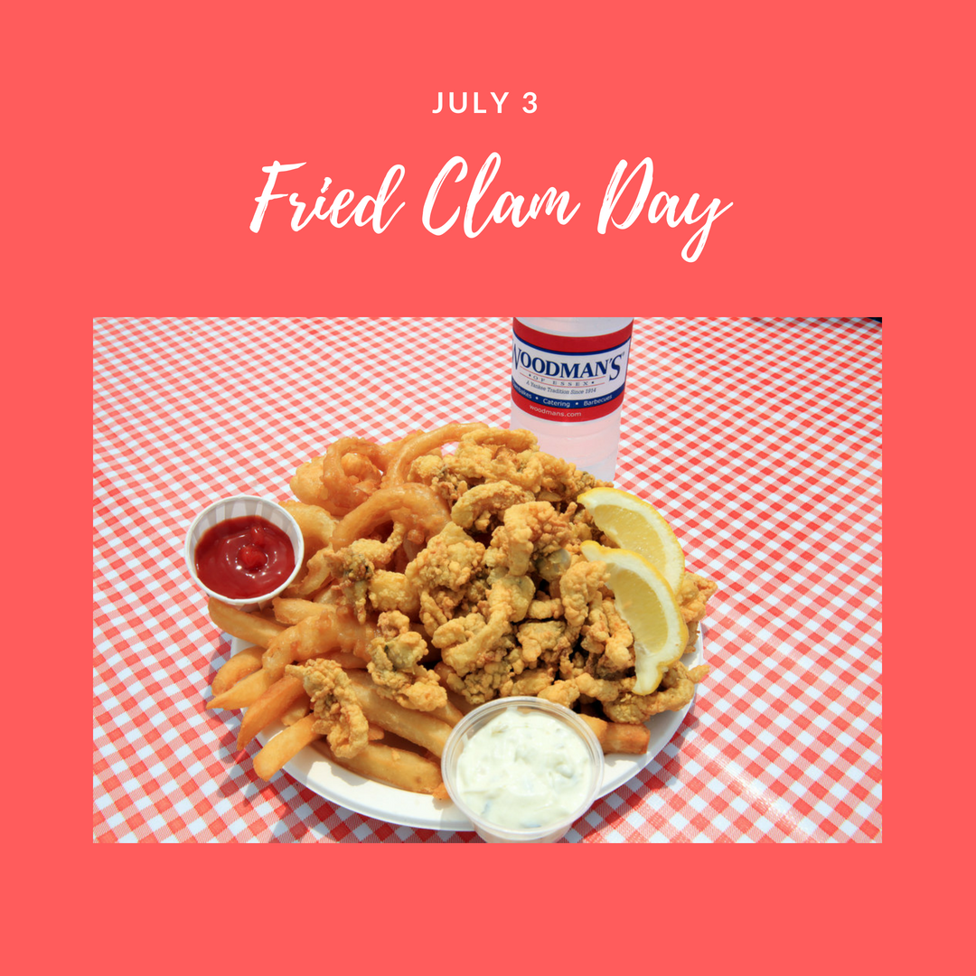 National Fried Clam Day is observed annually on July 3rd
