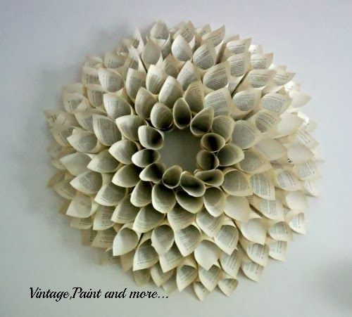book page wreath tutorial vintage paint and more