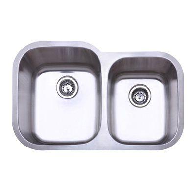 Gourmetier KU32219DBN Undermount Stainless Steel All Kitchen Sink, Brushed Nickel