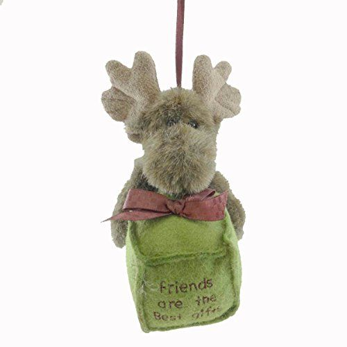 Boyds Bears Plush BEST GIFTS ORNAMENT 562716 Moose Christmas New - moose christmas decorations