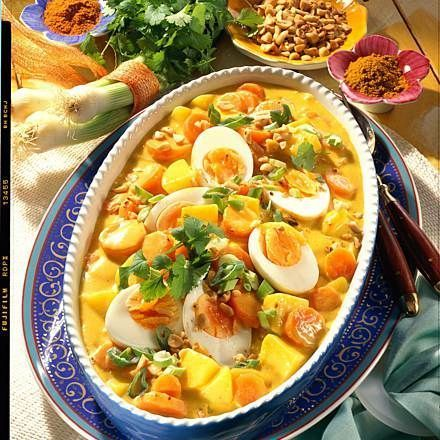 Photo of Carrot and Potato Curry with Eggs Recipe DELICIOUS
