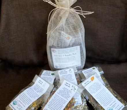 Bath Tea Sampler Pouch - Chagrin Valley Soap | Natural Skin