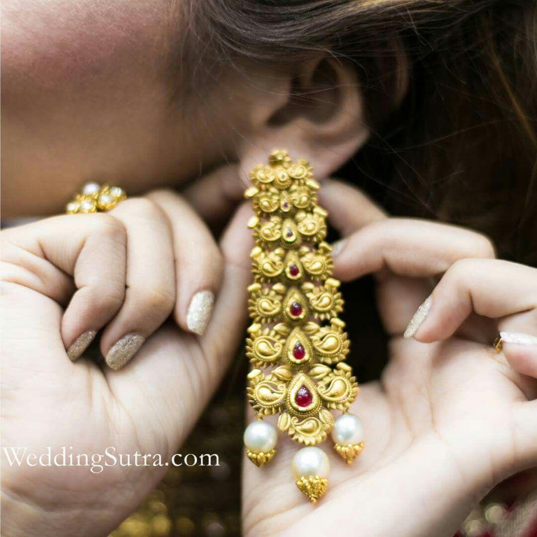 45ec04b6fec0d Azva modern gold jewellery on WeddingSutra bride to be ...