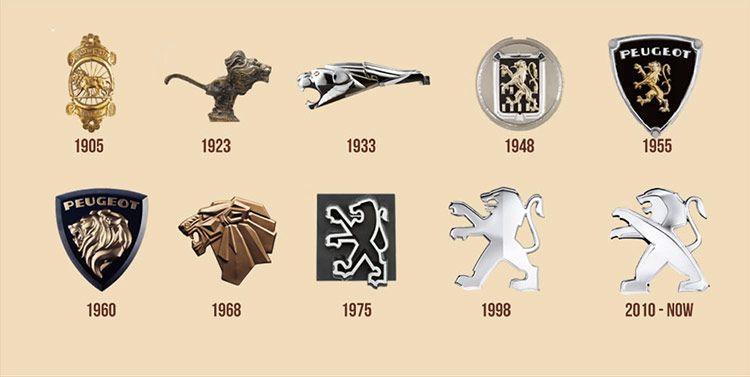 La Evolución Y Significado De Los Logos De 14 Marcas De Autos Autos Peugeot Marca De Coches