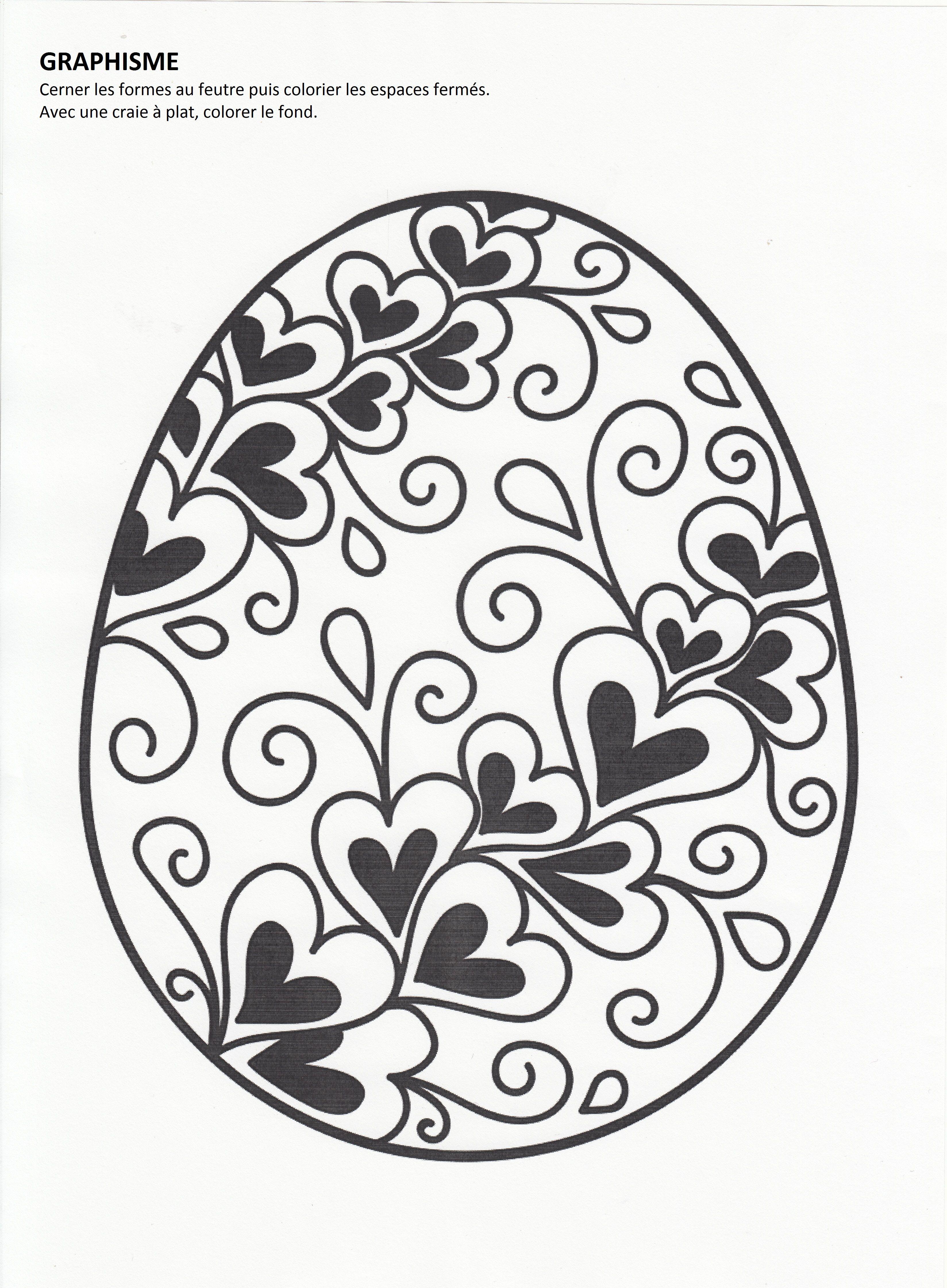 œuf De Pâques La Maternelle Disadis7 Bujo