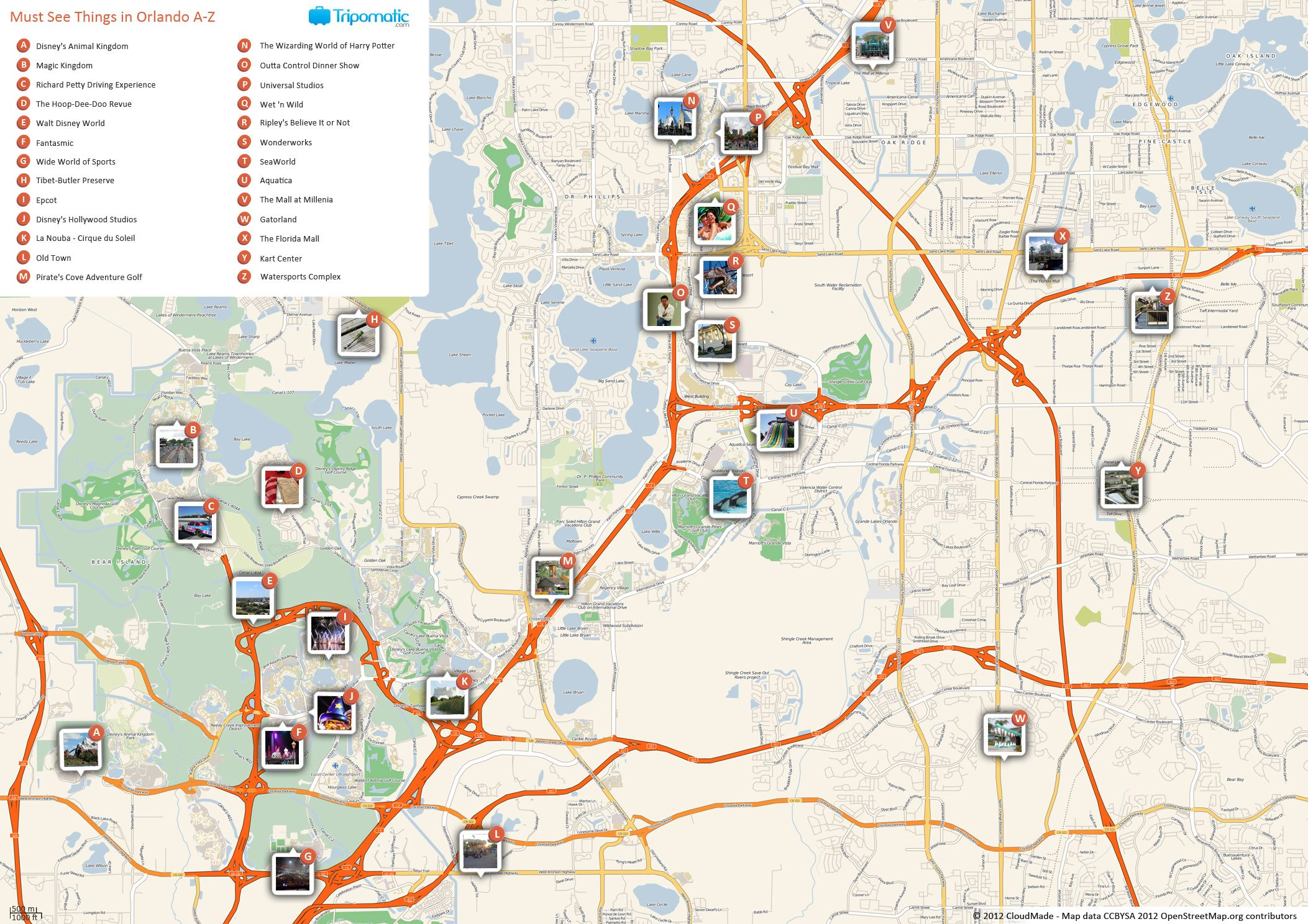map of orlando attractions Orlando Printable Tourist Map Tourist Map Attractions In map of orlando attractions