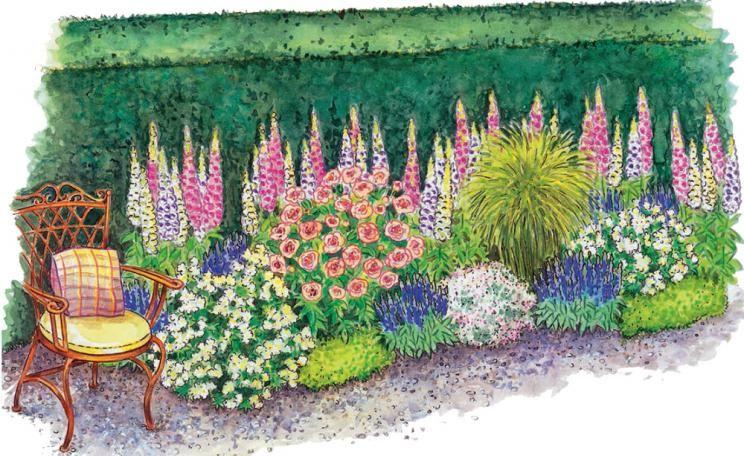 Zum Nachpflanzen: Romantisches Beet für Rosenfreunde #terassegestalten