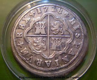 Blog Numismatico - Isabel II Reina de las Españas: 1 Peseta = 2 Reales / 1 Peseta = 4 Reales.